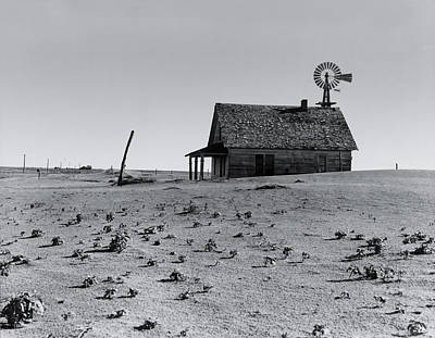 Abandoned Houses Photograph - Hoping For Rain Circa 1938 by Aged Pixel