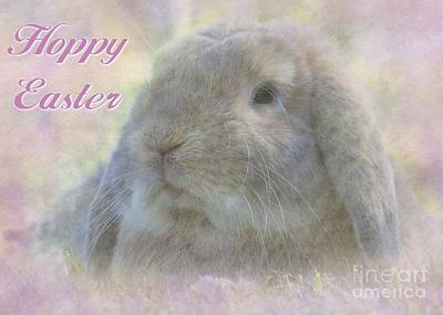 Digital Art - Hoppy Easter Bunny by JH Designs
