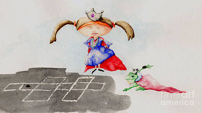 Tr Mixed Media - Hopscotch Prince by TR O'Dell