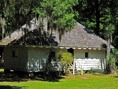 Photograph - Hopsewee Slave Quarters by Jean Wright