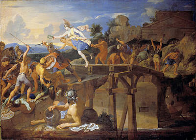 Charles River Painting - Horatius Cocles Defending The Bridge by Charles Le Brun