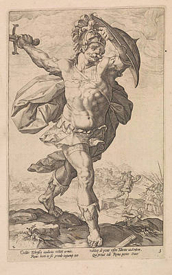 Horatius Codes, Anonymous, Hendrick Goltzius Art Print by Hendrick Goltzius And Franco Estius
