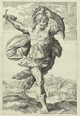 Bay Bridge Drawing - Horatius Codes, Keijzer, Hendrick Goltzius by Keijzer And Hendrick Goltzius