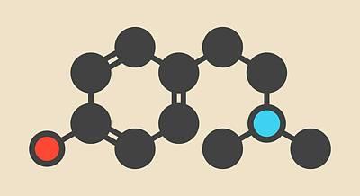 Hordenine Stimulant Molecule Art Print by Molekuul