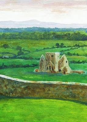 Rock Of Cashel Painting - Hore Abbey From Cashel Rock Eire by Nigel Radcliffe