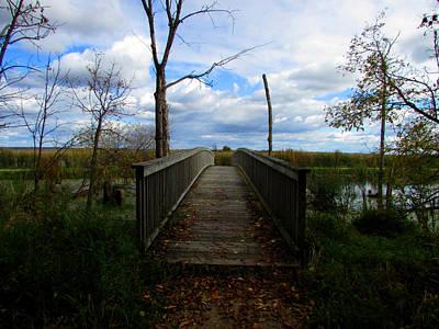 Horicon Bridge In Autumn Art Print by Kimberly Mackowski