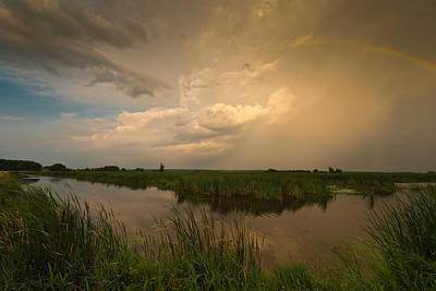Horicon Marsh Storm Art Print by Steve Gadomski