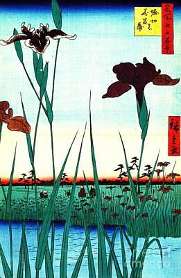 Ando Hiroshige Photograph - Horikiri Iris Garden 1857 by Padre Art