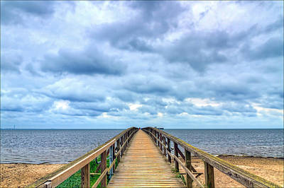 Jetty Photograph - Distant Horizon by EXparte SE