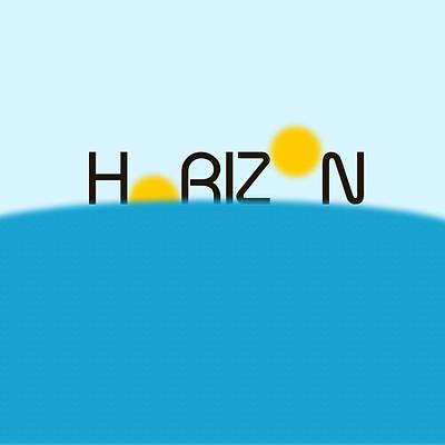 Digital Art - Horizon Minimalist Art by Celestial Images
