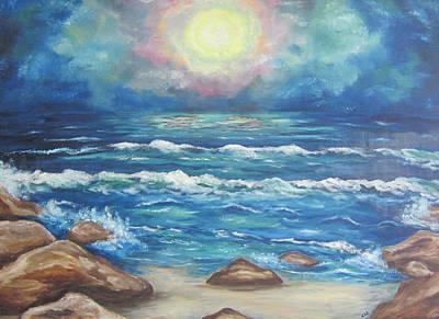 Art Print featuring the painting Horizons 2 by Cheryl Pettigrew
