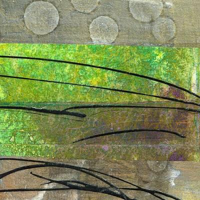 British Abstract Art Painting - Horizons by Shuya Cheng