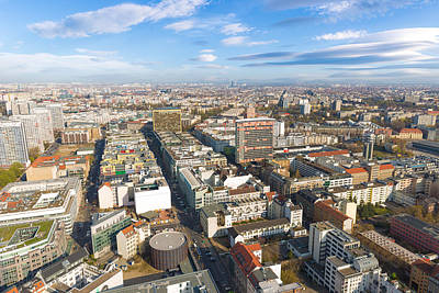 Photograph - Horizontal Aerial View Of Berlin by Semmick Photo
