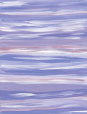 Painting - Horizontal Stripes Blue by Barbara St Jean