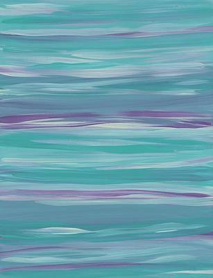 Painting - Horizontal Stripes Mint by Barbara St Jean