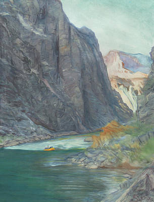 River Rafting Painting - Horn Creek Rapid  by Steve King