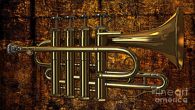 Mixed Media - Horn by Marvin Blaine