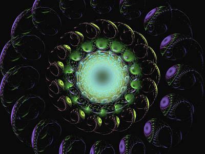 Digital Art - Horn Of Green by Richard J Cassato