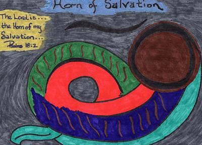 Horn Of Salvation Original by Jennifer Pierson