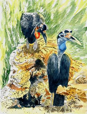 Hornbill Courtship Original by Ralph Kingery