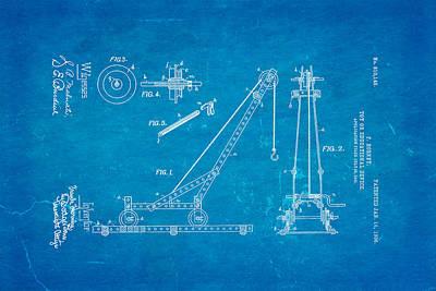 Brickie Photograph - Hornby Meccano Patent Art 1906 Blueprint by Ian Monk