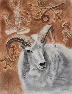 Fertility Symbols Painting - Horned Gods by Diana Perfect