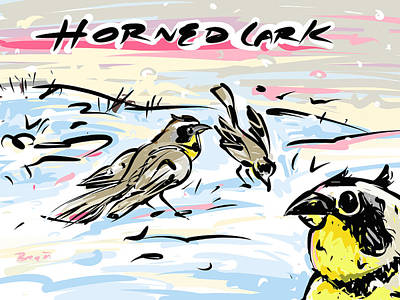 Horned Lark Print by Brett LaGue