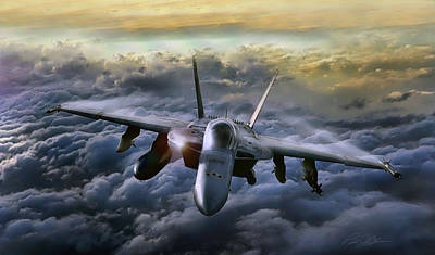 F-18 Digital Art - Hornet Sting by Peter Chilelli