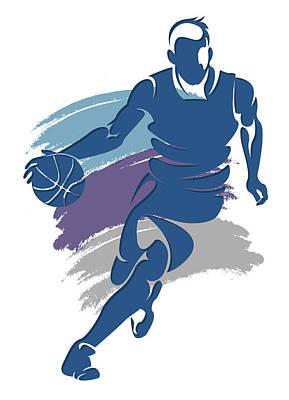 Hornets Basketball Player1 Art Print