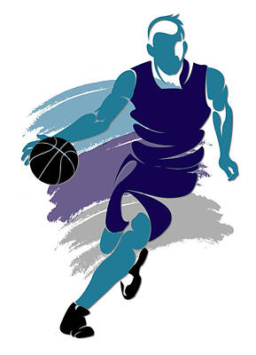 Hornets Basketball Player2 Art Print