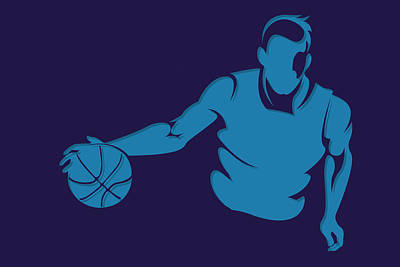 Charlotte Photograph - Hornets Shadow Player1 by Joe Hamilton