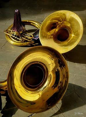 Sousaphone Photograph - Horns by Joe Bonita