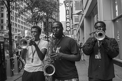 Photograph - Horns Players In Chicago  by John McGraw