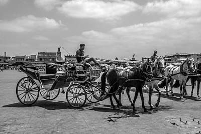Photograph - Horsa Carriage In Jemaa El Fna by Ellie Perla