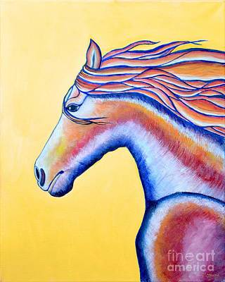 Art Print featuring the painting Horse 1 by Joseph J Stevens