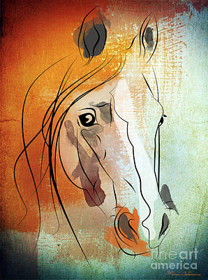 Race Horse Digital Art - Horse 3 by Mark Ashkenazi