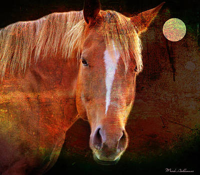 Mystical Landscape Digital Art - Horse 7 by Mark Ashkenazi