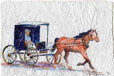 Horse And Buggy Art Print by Mary Haley-Rocks