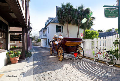 Horse And Buggy Ride St Augustine Art Print by Michelle Wiarda