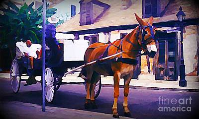 City Of Halifax Painting - Horse And Carriage In Front Of Lafitte's Blacksmith Shop  by John Malone