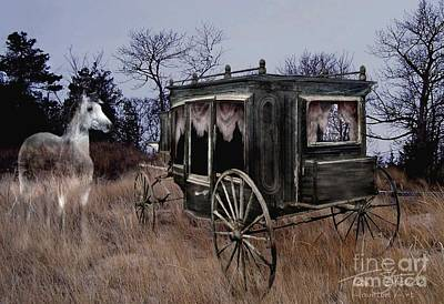 Paranormal Digital Art - Horse And Carriage by Tom Straub