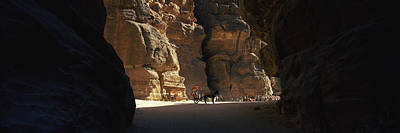 Siq Photograph - Horse And Cart In The Siq, Wadi Musa by Panoramic Images