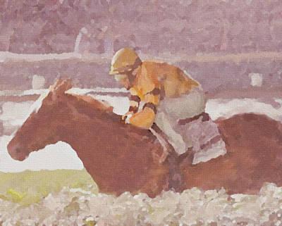Digital Art - Horse And Rider by Dennis Buckman