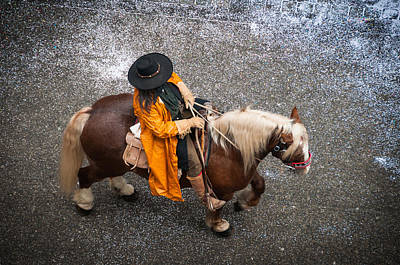 Photograph - Horse And Rider From Above by Matthias Hauser