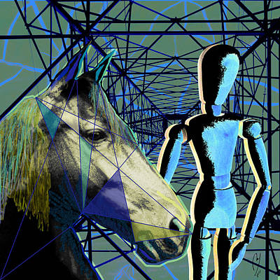Digital Art - Horse And Rider by Maria Jesus Hernandez