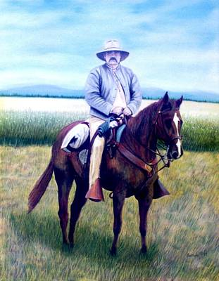 Painting - Horse And Rider by Stacy C Bottoms