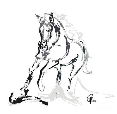 Horse- Andalusian Angel Art Print