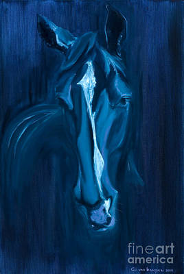 horse - Apple indigo Art Print