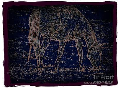 Photograph - Horse Art by Bobbee Rickard
