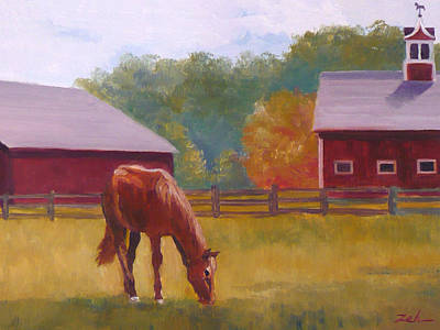 Painting - Horse Barn  by Janet Zeh